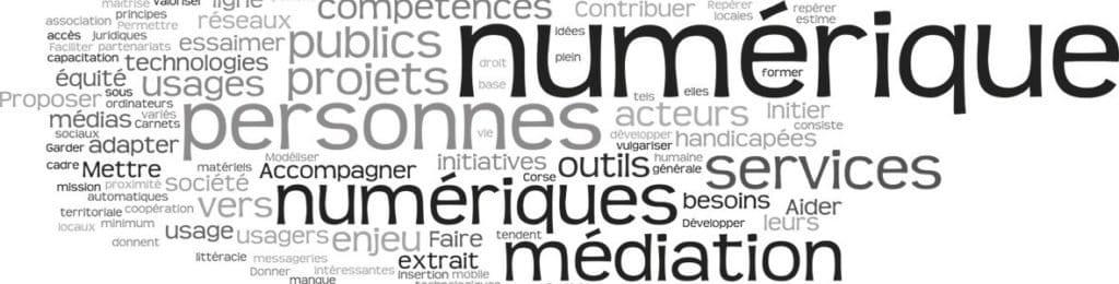 nuage de mots-clés emploi et numérique