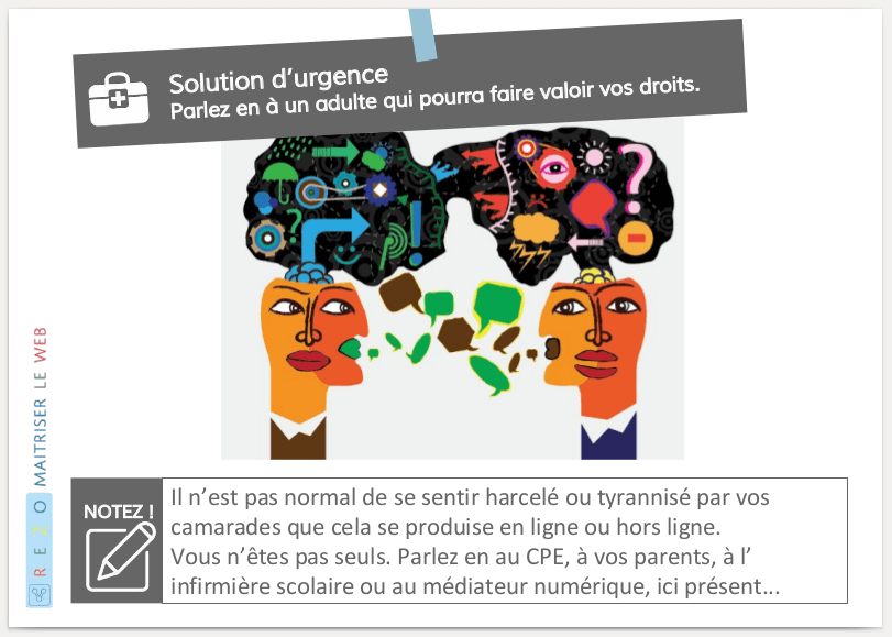 Extrait su support d'intervention REZO / bons Usages - Licence CC By-SA par Fréquence Écoles, https://frequence-ecoles.org/2015/10/26/2-dispositifs-pour/