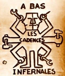 Les Affiches de mai 68 ou l'Imagination graphique : [exposition, Paris, Bibliothèque nationale, 17 février-31 mars 1982] - https://commons.wikimedia.org/wiki/File:Imagination_Graphique_40_Cadences_Infernales.jpg