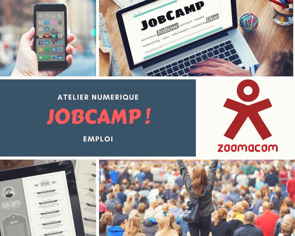Visuel JobCamp Zoomacom atelier numérique Emploi